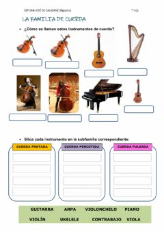 Interactive worksheet FAMILIA DE CUERDA