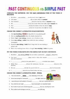 Interactive worksheet Simple past - past continuous