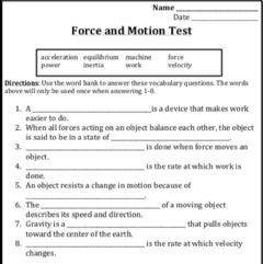 Interactive worksheet Force and Motion