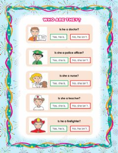 Interactive worksheet Who are they?