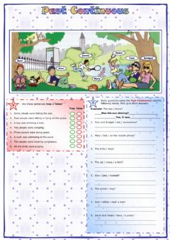 Interactive worksheet Past continuos