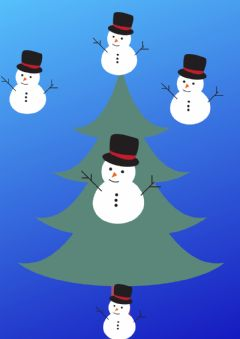 Interactive worksheet Prepositions of place - Christmas