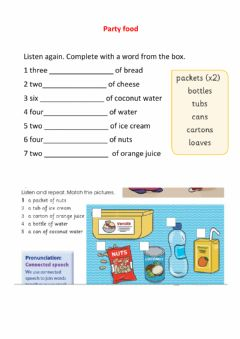 Interactive worksheet Food party1