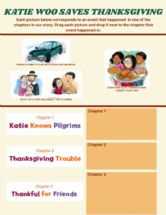 Interactive worksheet Katie Woo Saves Thanksgiving