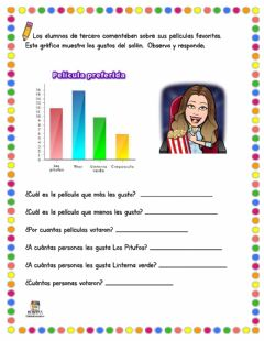 Interactive worksheet Gráfica de Barras