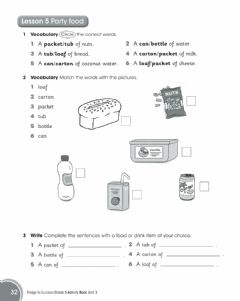 Interactive worksheet Party food