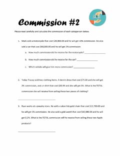 Interactive worksheet Commission -2