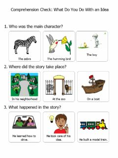 Interactive worksheet What Do You Do With an Idea Comp Check