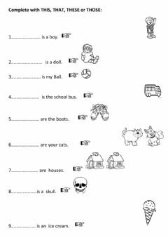 Interactive worksheet Demonstratives: This, that, these, those