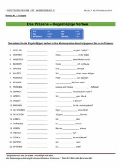 Interactive worksheet Präsens