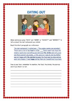 Interactive worksheet Eating Out
