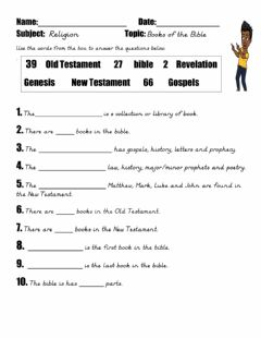 Interactive worksheet Books of the Bible