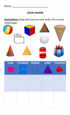 Ficha interactiva Solid Shapes (3D shapes)