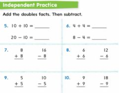 Interactive worksheet Use double to subtract