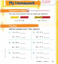 Interactive worksheet Use double to subtract h