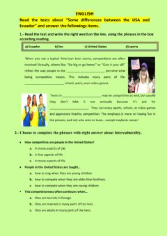 Interactive worksheet Some differences between USA and ECUADOR