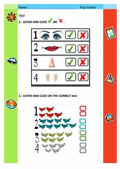 Interactive worksheet PLAY SCHOOL End of Year Test