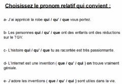 Interactive worksheet Grammaire