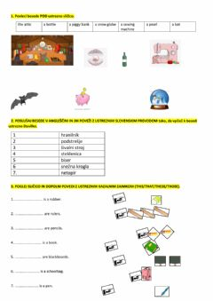 Interactive worksheet Vocabulary, demonstratives