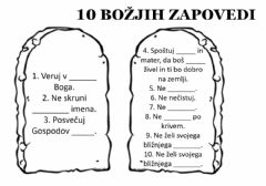 Interactive worksheet 10 božjih zapovedi