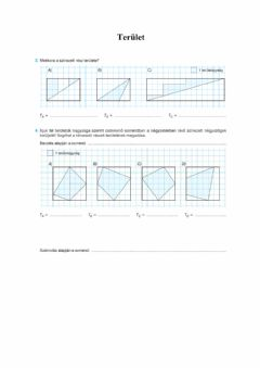 Interactive worksheet Terület