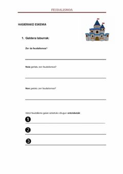 Interactive worksheet Feudalismoa i