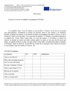 Interactive worksheet Ma journée