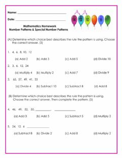 Ficha interactiva Patterns Homework