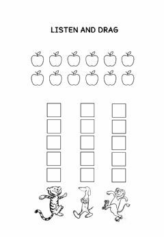 Interactive worksheet How many apples up on top?