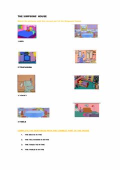 Interactive worksheet The Simpsons- house