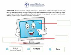 Interactive worksheet Partes del Monitor