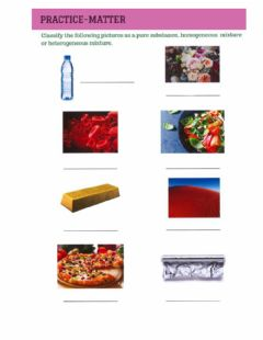 Interactive worksheet Substance and compound