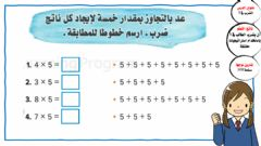 Interactive worksheet الضرب