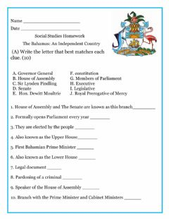 Interactive worksheet The Bahamas-An Independent Country