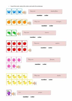 Interactive worksheet Colors of the rainbow-C-