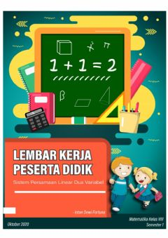 Interactive worksheet LKPD 1 Sistem Persamaan Linear Dua Variabel (SPLDV)