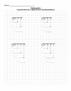 Interactive worksheet Long Division without remainder