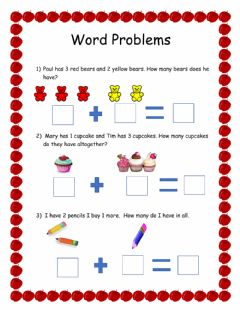 Ficha interactiva Word Problems