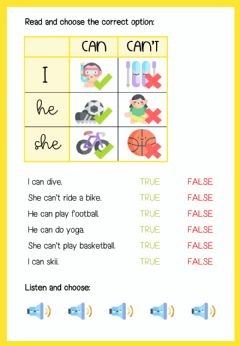 Interactive worksheet Sports - can