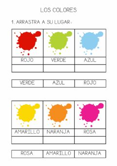 Interactive worksheet Lectura global. Los colores.