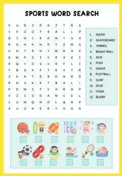 Ficha interactiva Sports word search