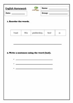 Interactive worksheet Lesson 24: HFW had