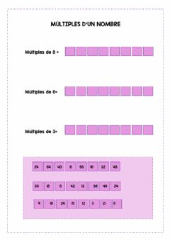 Interactive worksheet MÚLTIPLES