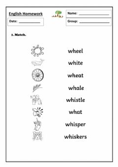 Interactive worksheet Lesson 33:sound wh
