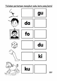 Interactive worksheet Suku kata kvkv