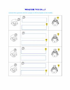 Interactive worksheet Level 4 - Unit 3b: What did you do...?