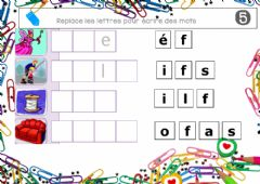 Interactive worksheet Loto lettres mobiles 5