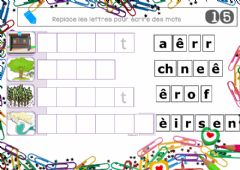Interactive worksheet Loto lettres mobiles 15