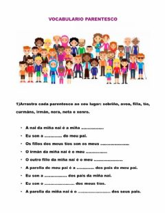 Interactive worksheet Vocabulario parentesco