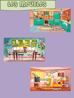 Interactive worksheet Les meubles